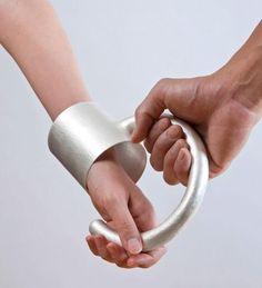 One of Mizuko Yamada's amazing pieces.  'jewellery to assist contact' bangle