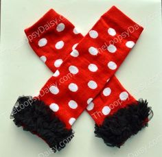 Minnie Mouse Leg Warmers Minnie Mouse Dress by TheLoopsyDaisy, $8.95