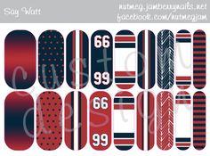 Houston Texans and JJ Watt inspired nail wraps!! <3 #HoustonTexans #JJWatt #Houston #Texas #Texans #nailart #saywatt #nutmegjam #jamberry