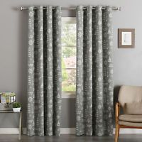 Aurora Home Maritime Print Room Darkening Silver Grommet Top Curtain Panel Pair (Grey 96 inch), Size 52 x 84 (Polyester, Nautical)