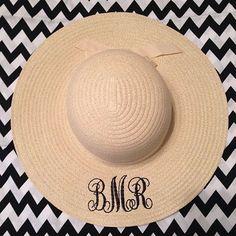 Items similar to Monogrammed Floppy Beach Hat on Etsy 8cff7834157