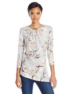 Calvin Klein Women's 3/4 Sleeve Wrap Top W/ Keyhole, Tin ... https://www.amazon.com/dp/B01M2B9OS4/ref=cm_sw_r_pi_dp_x_wHLgzbGVHTWA2