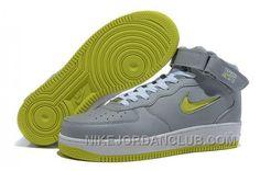 http://www.nikejordanclub.com/nike-air-force-1-mid-grey-volt-shoes-knmmy.html NIKE AIR FORCE 1 MID GREY/VOLT SHOES KNMMY Only $54.00 , Free Shipping!
