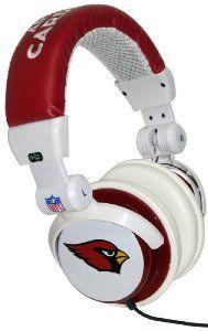iHip NFL Arizona Cardinals DJ Style Headphones Arizona Cardinals Logo 9ad65cc6e
