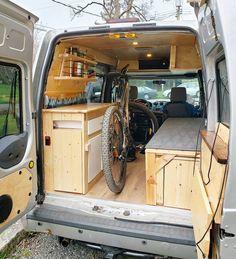 Ford Transit Camper Conversion, Ford Transit Connect Camper, Ford Transit Campervan, Van Conversion Interior, Camper Van Conversion Diy, Van Interior, Van Conversion Kits, Small Camper Vans, Small Campers