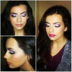 purple eyeshadow  MAC cosmetics  MAC Rebel and snob lipstick combined