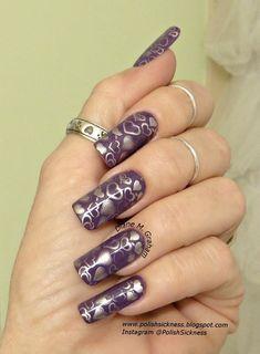 Valentine Hearts #purple #heart #polish  #nailblogger Download #beautyapp - bellashoot to see more!