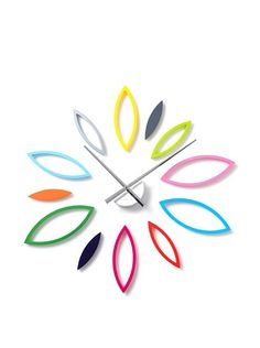 Double stick tape on back of each leaf = do your own thing.  Karlsson DIY Leaves Flower wall clock.