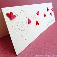 DIY Valentines Day Cards - Paper Pierced Valentine's Card - Easy Handmade Cards for Him and Her, Kids, Freinds and Teens - Funny, Romantic, Printable Ideas for Making A Unique Homemade Valentine Card - Step by Step Tutorials and Instructions for Making Cute Valentine's Day Gifts http://diyjoy.com/diy-valentines-day-cards
