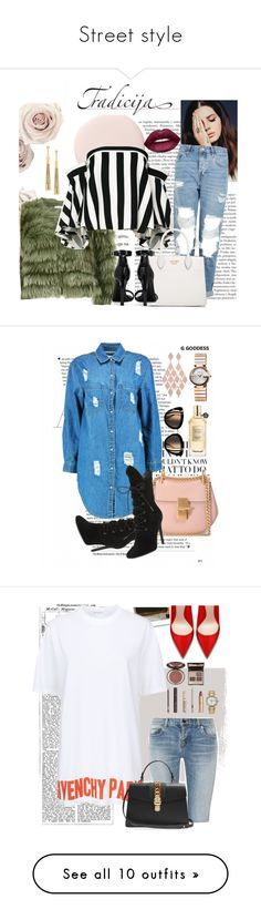 """""""Street style"""" by jaavi-98 ❤ liked on Polyvore featuring Alice + Olivia, Milly, Topshop, Prada, Yves Saint Laurent, Lime Crime, Eddie Borgo, Kendall + Kylie, Chloé and Boohoo"""