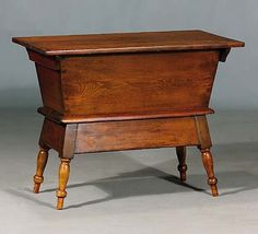 American mixed wood dough box early 19th century