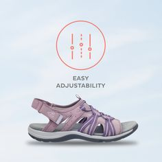 Our favorite easy tip: choose styles with stretch materials and multiple points of adjustability for a custom-like fit [Shoe: Spark] Hiking Sandals, Flat Sandals, Flats, Comfy Shoes, Comfortable Shoes, Supportive Sandals, Strap Heels, Low Heels, Footwear