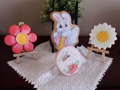 Easter cookie set, Spring flowers,  spring egg, by Irma Garcia
