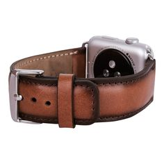 iWatch Strap Genuine Leather Band for Apple Watch, Apple Watch Leather, iWatch Band, Apple Watch Band 42mm in Burned Cognac by IstanbulLeatherShop on Etsy