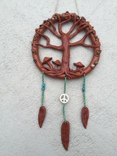 Large Tree of life dream catcher with by thisthatandthese on Etsy
