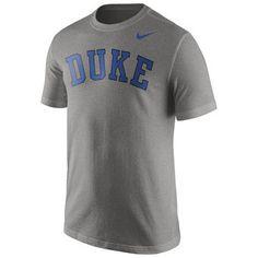 Nike Duke Blue Devils Heather Grey Wordmark T-Shirt