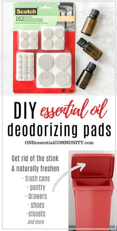 DIY essential oil deodorizing pads gets rid of stinky smells and odors fresh scent of essential oi&; DIY essential oil deodorizing pads gets rid of stinky smells and odors fresh scent of essential oi&; Homemade Cleaning Products, Cleaning Recipes, Natural Cleaning Products, Cleaning Hacks, Diy Hacks, Essential Oil Uses, Doterra Essential Oils, Young Living Essential Oils, Essential Oil Diffuser