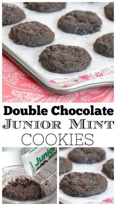 Sharing my Double Chocolate Junior Mint Cookies today! Nothing like a good chocolate cookies recipe! The perfect combination chocolate and mint Best Chocolate Cookie Recipe, Chocolate Mint Cookies, Mini Chocolate Chips, Chocolate Lovers, Bakery Recipes, Dessert Recipes, Mint Desserts, Junior Mints, Mint Brownies
