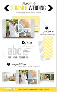 Create the perfect, modern summer wedding slideshow with this guide. Wedding Tips, Luxury Wedding, Summer Wedding, Wedding Styles, Wedding Photos, Dream Wedding, Simple Collage, Type Treatments, Wedding Invitations Online
