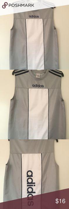 Adidas Grey Sleeveless Men'sXL Round-neck T-shirt Adidas Grey Sleeveless Men's XL Round-neck T-shirt adidas Shirts Tank Tops