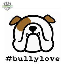 English bulldog vinyl decal car stickers from SmooshfaceUnited on