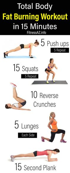 Total Body Fat Burning Workout in 15 Minutes #fitness #squat #lunges #Health #crunches #fit #fatburn #fitnessaz
