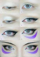 One Punch Man Onsoku no Sonic Eyes Makeup tutorial by mollyeberwein