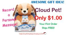 HURRY! Get a Cloud Pet for only $1.00 with FREE shipping with your first order! Record a  personal message for hugs with the Cloud Pet! Kids will love it!  Click the link below to get all of the details ► http://www.thecouponingcouple.com/cloud-pet-only-1-00-other-hot-deals-big-savings/ #Coupons #Couponing #CouponCommunity  Visit us at http://www.thecouponingcouple.com for more great posts!