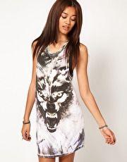 us.asos.com  Religion Wolf Tank Dress
