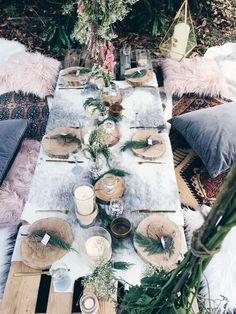 Beautiful bohemian brunch we styled on the weekend. Boho Garden Party, Bohemian Party, Garden Picnic, Brunch, Party Set, Beach Picnic, Event Styling, Event Decor, Party Planning