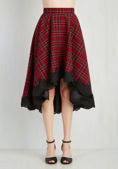 For Statement's Sake Skirt. Did someone say diva? #red #modcloth