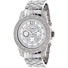 b7ec32f137 Amazon.com  LUXURMAN Watches  Mens Diamond Watch 0.50ct  Watches