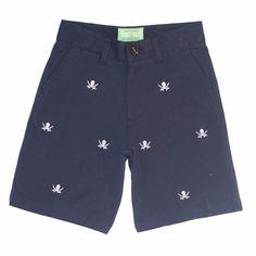 Castaway Nantucket Men/'s Shorts Blue// Embroidered Seersucker Bow Tie Sz 34 B-12