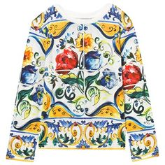Multi Majolica Print Long Sleeve Tee
