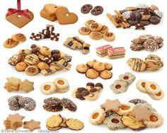 a variety of german christmas cookies