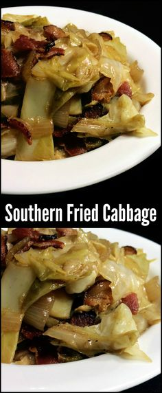 You could make an entire meal out of this Southern Fried Cabbage with bacon and onion! It is the most popular side dish on the site! Millions of people have tried it and loved it. One of our all ti (Fried Cabbage Recipes) Southern Fried Cabbage, Bacon Fried Cabbage, Fried Cabbage Recipes, Cabbage Meals, Sauteed Cabbage, Side Dish Recipes, Vegetable Recipes, Vegetable Side Dishes, Southern Recipes