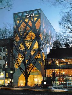 The Tod's building by Toyo Ito Japan Architecture, Minimalist Architecture, Amazing Architecture, Contemporary Architecture, Architecture Design, Black Building, Hospital Design, Toyo Ito, Facade Design