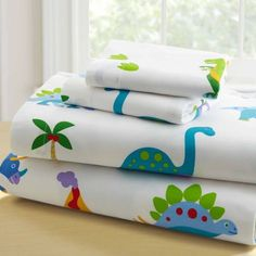 Olive Kids Dinosaur Land Twin Sheet Set is pure prehistoric fun! Olive Kids Dinosaur Land sheet set is a land where cute dinosaurs roam. All sorts of Dinosaurs, foot . Twin Sheets, Twin Sheet Sets, Bed Sheets, 100 Cotton Sheets, Cotton Sheet Sets, Cleaning White Sheets, Dinosaur Land, Dinosaurs, Dinosaur Toys