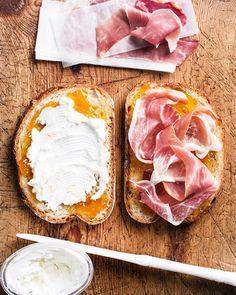 Monte Cristo - goat cheese, apricot jam, procuitto, fried egg…