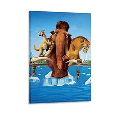 Wall Art Pictures, Print Pictures, Ice Age 4, Ice Age Movies, Modern Family, Canvas Art, Bedroom Decor, Poster Prints, Painting