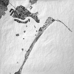 © Fabio Alessandro FUSCO. Analogous Venice   Panels X - XII   Graphite on tracing paper, 12 panels. 50 cm x 50 cm (each), 200 cm x 150 cm (overall)