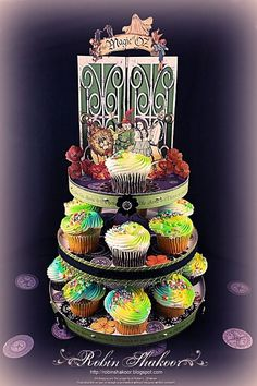 Beautiful Magic of Oz Cupcake tower by Robin Shakoor! From our blog #graphic45