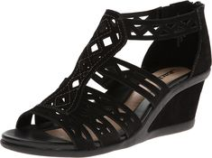 Earth Women's Petal Wedge Sandal,Black,8.5 M US >>> Quickly view this special product, click the image : Wedges Shoes