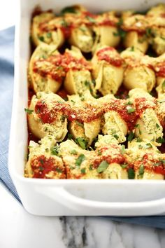 Vegan Cauliflower Ricotta Stuffed Shells from Nom Yourself: Simple Vegan Cooking by Mary Mattern