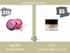 Makeup dupes: Benefit Erase Paste dupe