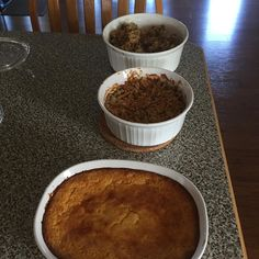 Side dishes done! Corn casserole green bean casserole and stuffing!
