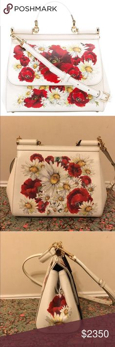Dolce & Gabbana Miss Sicily Cross-body NWT! This gorgeous Dolce & Gabbana is a classic that will elevate any outfit. This gorgeous print is great for the summer and the leather is super durable! Comes with dust bag and all original packaging Dolce & Gabbana Bags Crossbody Bags