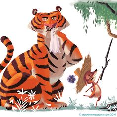Mouse Deer and Tiger – a fantastic and funny story from Malaysia with art by Sebastian Baculea (https://www.behance.net/sebastianb) in Storytime Issue 22 ~ STORYTIMEMAGAZINE.COM