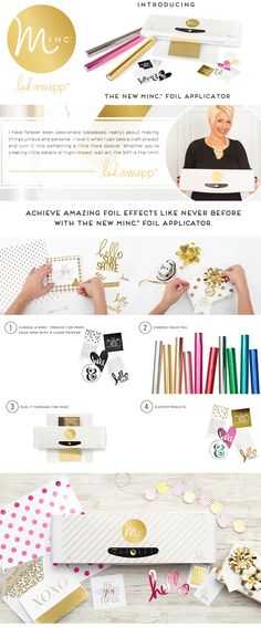 what is MINC? It's a Metalic Foil Applicator The longer answer is . MINC is Heidi Swapp's newest collectio. Silhouette Curio, Minc Machine, Craft Foil, Deco Foil, Diy And Crafts, Paper Crafts, Scrapbooking, Foil Art, Heidi Swapp