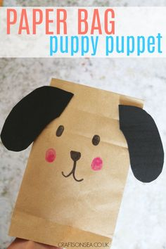 Paper Bag Crafts for Kids: Puppy Puppet